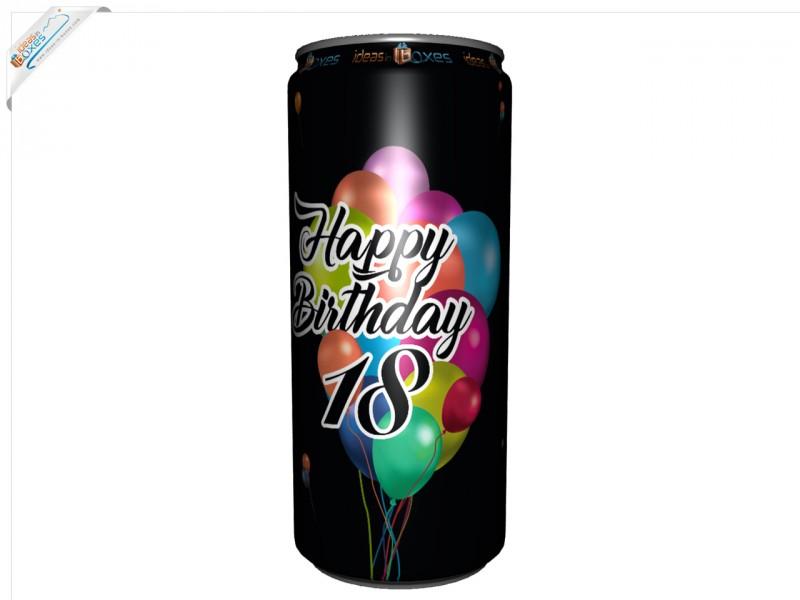 Secco Bianco Geburtstagssektdose zum 18 Geburtstag