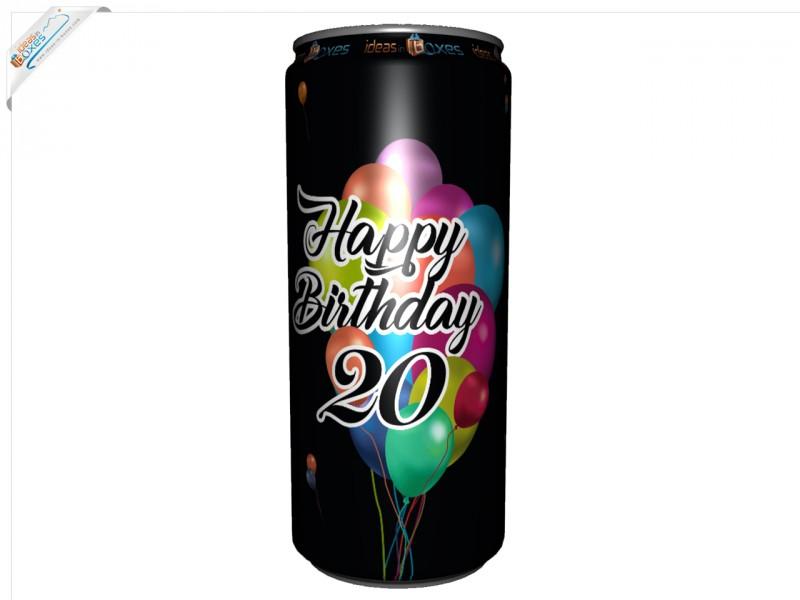 Secco Bianco Geburtstagssektdose zum 20 Geburtstag