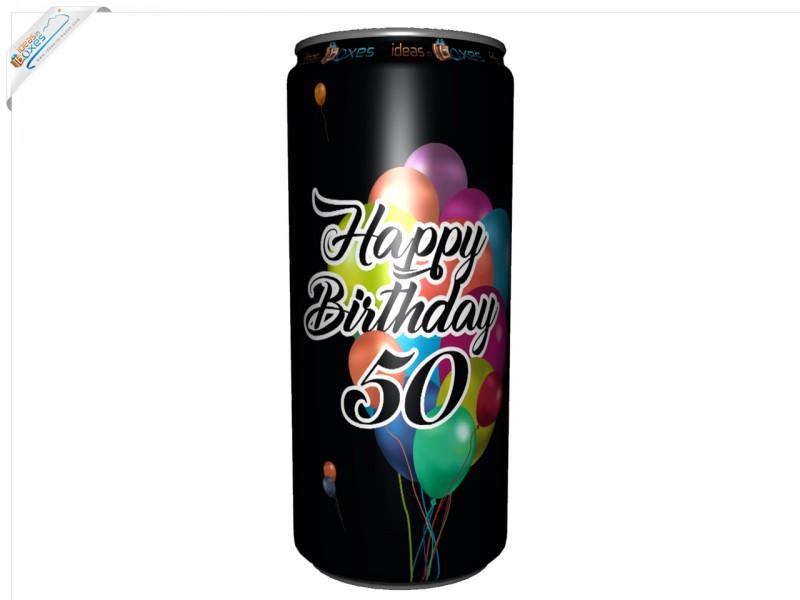 Secco Bianco Geburtstagssektdose zum 50 Geburtstag