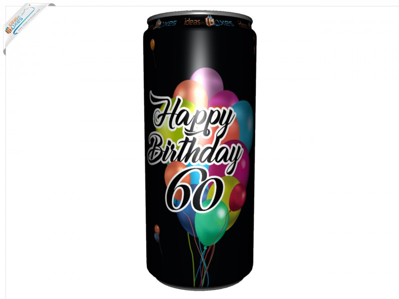 Secco Bianco Geburtstagssektdose zum 60 Geburtstag