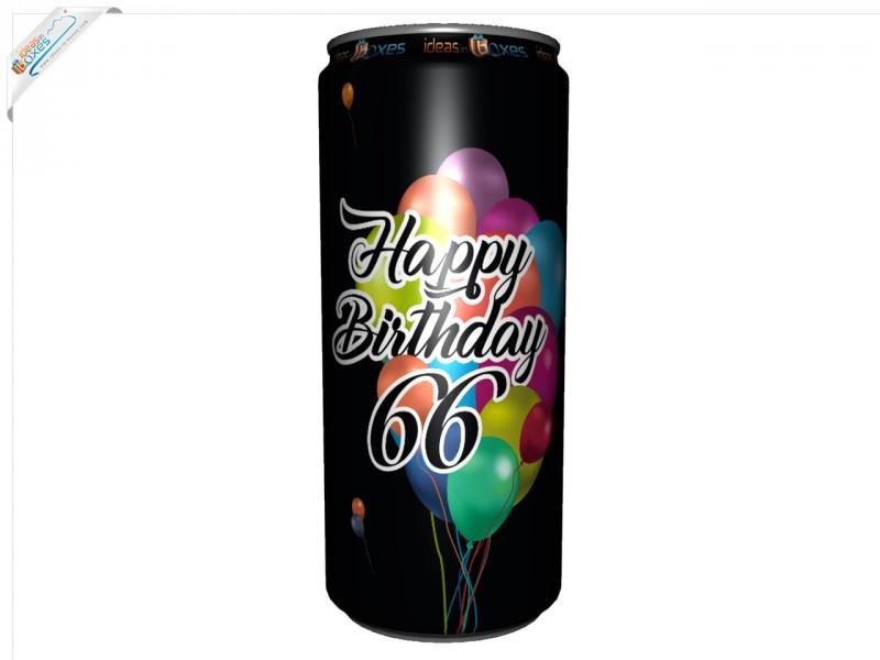 Secco Bianco Geburtstagssektdose zum 66 Geburtstag
