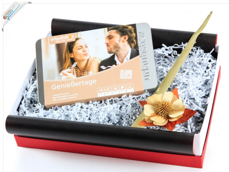 """Urlaubsbox - Geschenkset Kurzurlaub """"Genießertage"""" für 2 Personen - Reisegutschein"""