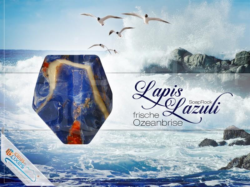 "Geschenkbox ""Lapis Lazuli"" (SoapRocks antibakterielle Seife - Mittel gegen Akne und Neurodermitis) Kreative Geschenkidee Beauty"