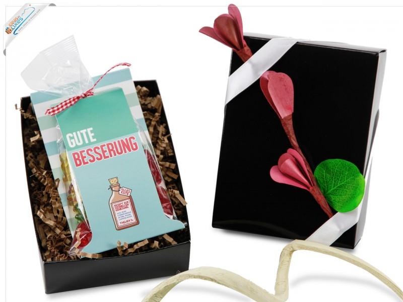 Kleines Geschenkset Gute Besserung Mitbringbox