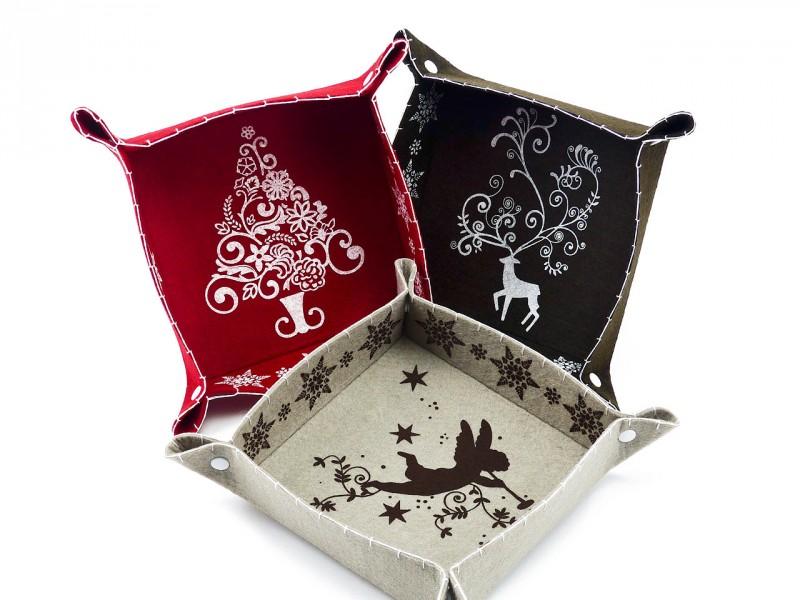 Schale Filz grau (Schönes Wohnaccessoire zur Dekoration und Aufbewahrung) kreative Geschenkidee