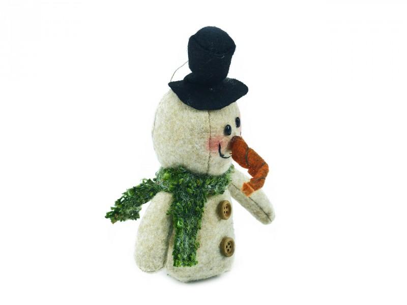 Schneemann mit schwarzem Hut - Originelle Geschenkidee