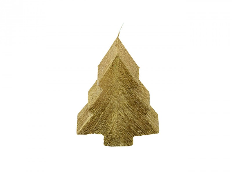 Tannenbaum Struktur Metallic klein Gold