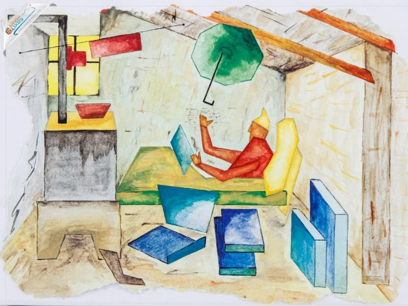 Deckeldesign Gemälde