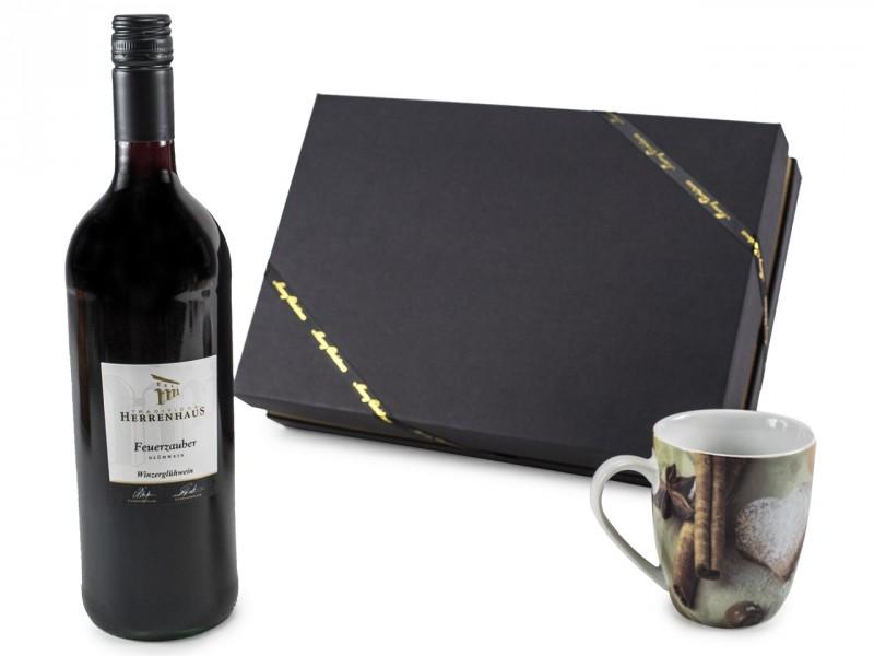 Weihnachtsgeschenk Geschenkset mit Glühwein und Weihnachts-Tasse