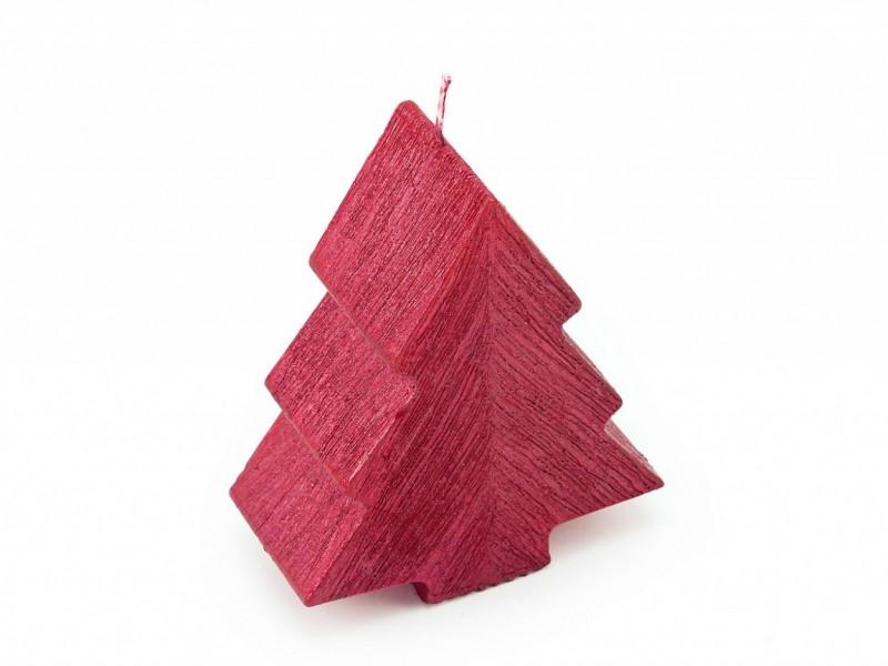 Tannenbaum Struktur Metallic klein Altrot