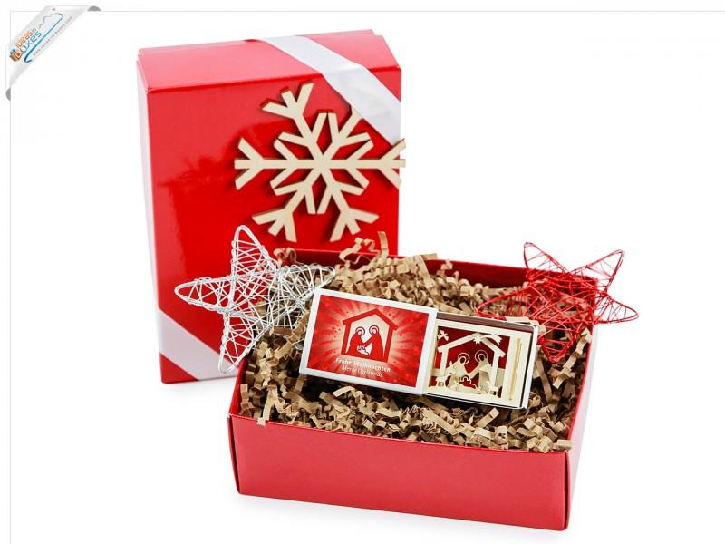 Weihnachtsgeschenk Geschenkset Christmas mit 3D-Motiv